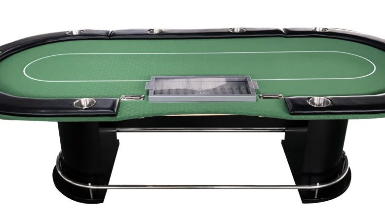 Texas Holdem Poker Table With Pedestal Legs
